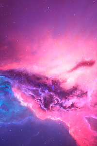 Pink Red Nebula Space Cosmos 4k