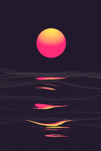 1242x2688 Pink Retrowave Sunset