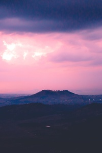 Pink Sky Cloud Mountain 5k