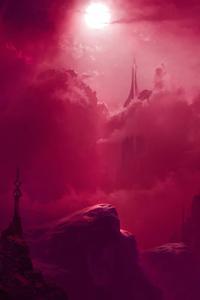 320x480 Pink Sky Digital Art