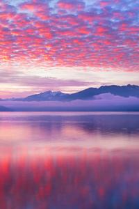 Pink Waves Nature Landscape 5k