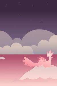 320x480 Pink World Minimalist