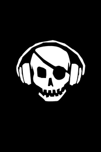 Pirate Skull Headphones