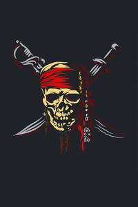 320x480 Pirate Skull Minimalism 5k