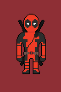 1440x2960 Pixel Deadpool Art