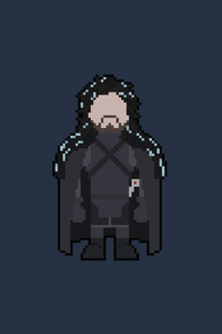 800x1280 Pixel Jon Snow Art