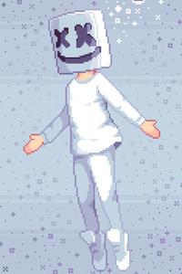 Pixel Marshmello Art