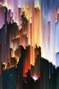 640x960 Pixel Sorting Artwork