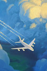 Plane Artwork 4k