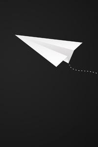 750x1334 Plane Paper Airplane