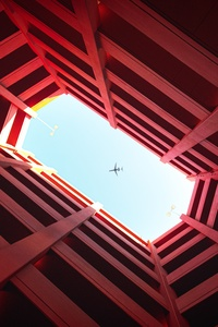 540x960 Plane View Between Architectural Building 8k
