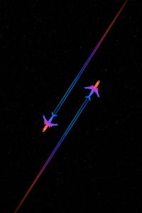 800x1280 Planes Crossing Minimal 5k