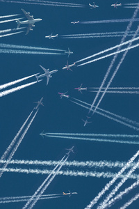 800x1280 Planes Sky Trails 5k