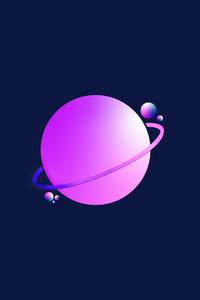 1280x2120 Planet Digital Art 4k