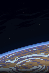750x1334 Planet Pixel Art 4k