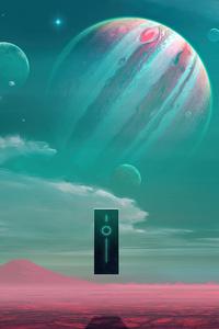 Planet Science Fiction Among Stars 4k