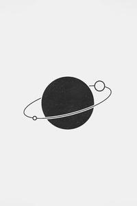 1080x2160 Planet Simple Minimal 5k