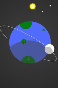 Planet Space Digital Art 4k