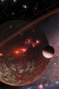 1440x2960 Planet Time Less 5k