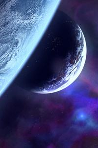 1242x2688 Planets Scifi Art 8k