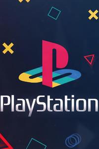 480x854 Playstation Logo Background 4k