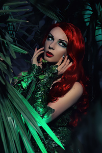 240x400 Poison Ivy Cosplay Girl 4k