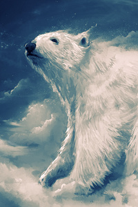 Polar Bear Artwork 4k