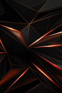 Polygon Abstract Shapes Sharp 4k