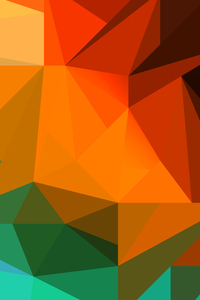 240x400 Polygon Colorful Shapes 8k