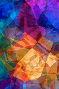 1080x2160 Polygon Colour Abstract 4k