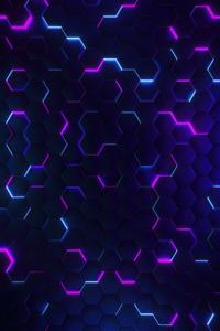 1080x1920 Polygon Glowing Joins 5k
