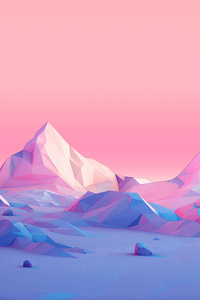 Polygon Mountains Minimalist