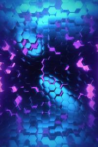Polygon Shapes Shining Dark 4k