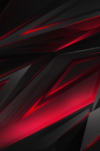 320x568 Polygonal Abstract Red Dark Background