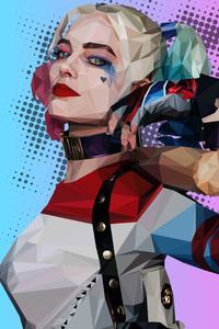 Polygonal Harley Quinn
