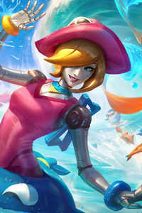 800x1280 Pool Party Orianna And Taliyah League Of Legends
