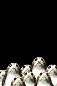 Porgs Star Wars The Last Jedi Poster