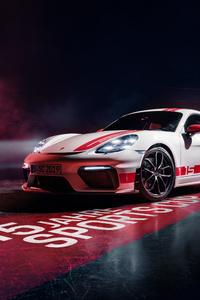 1242x2688 Porsche 718 Cayman GT4 Sports Cup Edition 2019
