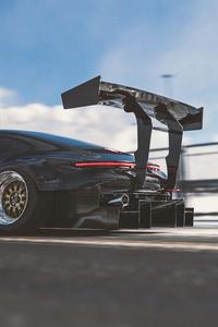 320x568 Porsche 911 992R 4k