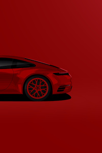 360x640 Porsche 911 Carrera 4s Illustration 5k