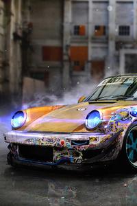 480x800 Porsche 911 Concept Artwork 4k