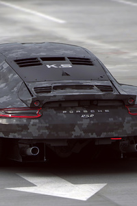 Porsche 911 Digital Art 4k