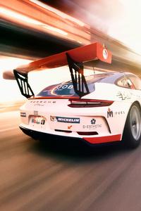 640x960 Porsche 911 Gt3 Cup Rear View 4k