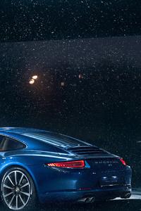 2160x3840 Porsche 911 In Snow