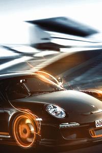 1242x2688 Porsche 911 On Track 5k