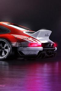 Porsche 911 Rear Art 4k