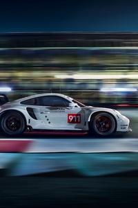 Porsche 911 RSR Side View 4k