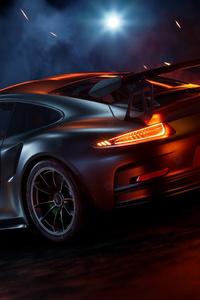 640x1136 Porsche 911 Sport Car Rear