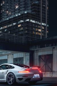 1125x2436 Porsche 911 White 2019 4k