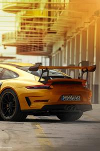 Porsche 911GT3RS Gold 4k Rear